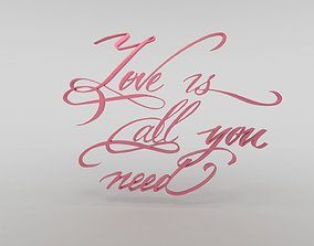 Love is all you need 3D asset