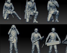 uniform 3D printable model German soldiers