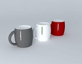3D Starbucks mug collection