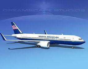 Boeing 767-300 North American 3D