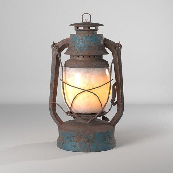 rusty lantern