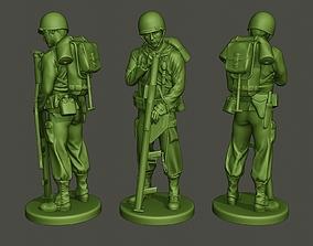 3D print model American soldier ww2 looking Bazooka A4