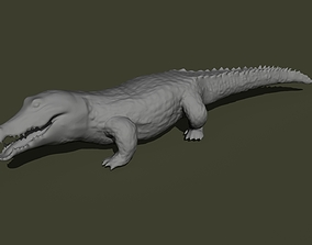 crocodile sculpt 3d print 3D print model in 5 different