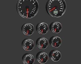 Automotive Gauges 3D