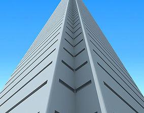 3D model Modern city tower building 90