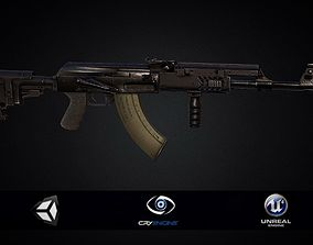 PBR AK 47 assault rifle Tactical 3D model low-poly