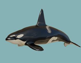 3D asset animated VR / AR ready Killer whale