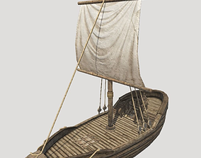 Small Medieval Ship 3D asset