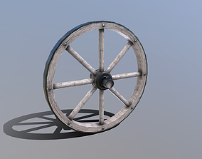 Single Cart Wheel 3D model