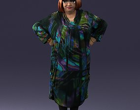Fat woman in colorful clothes 0076 3D Print Ready