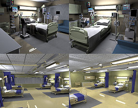 Hospital rooms 3D asset