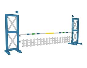 Horse jump obstacle vray 3D model
