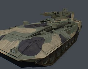 3D asset T-15 Barbaris pack two turrets new 57mm cannon 1