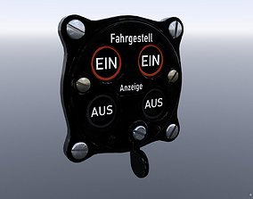 GERMAN UNDER CARRIAGE POSITION INDICATOR 3D asset