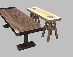 lumber tables 3D model