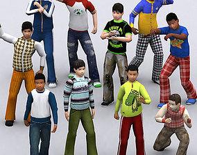 3DRT - Realpeople Kids Boys animated