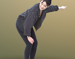 Francine 10346 - Pointing Casual Girl 3D model