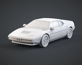 3D print model Retro Sports Car
