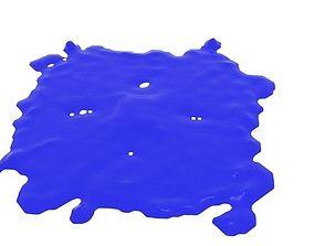 Cube Splash Splatter 3D model