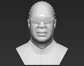 Stevie Wonder bust 3D printing ready stl obj formats