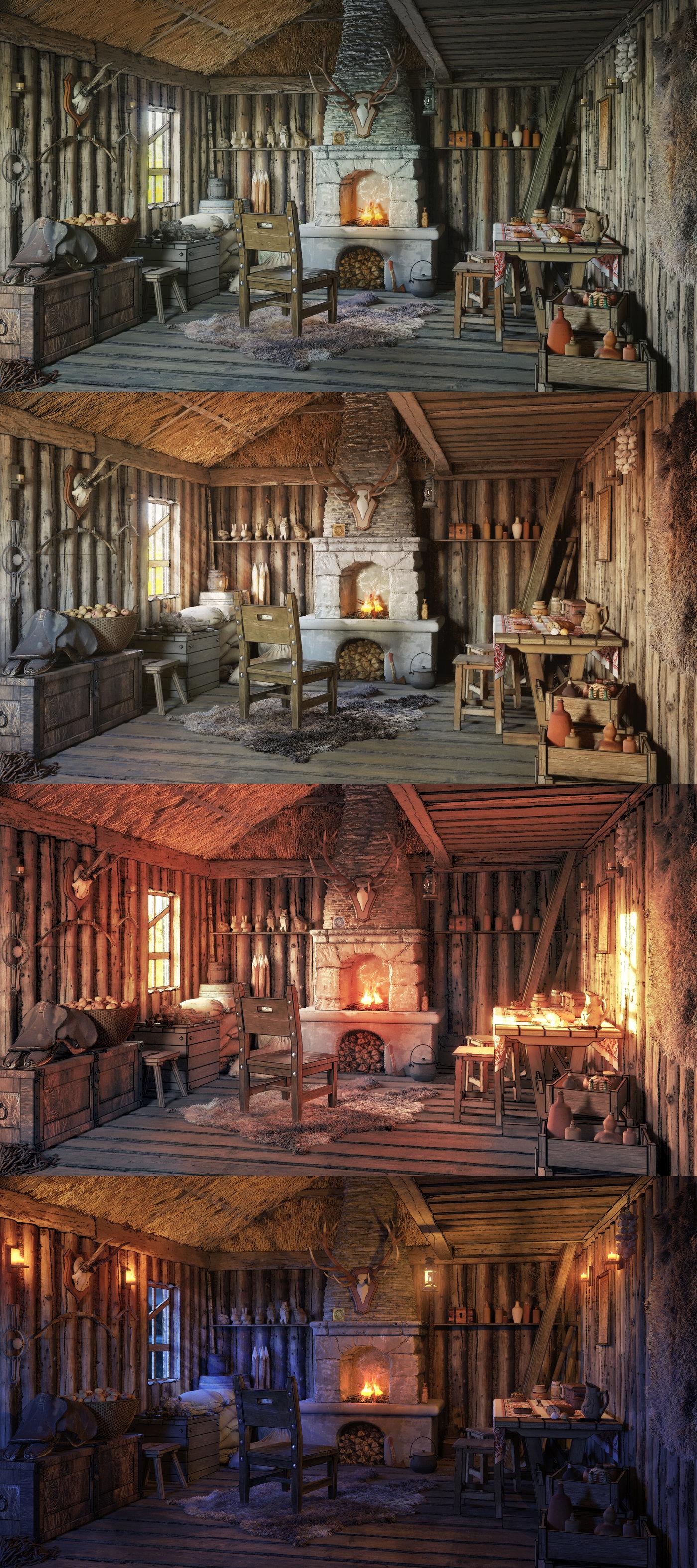 Hunter hut interior