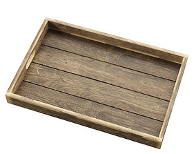 3D Reclaimed Wood Serving Tray
