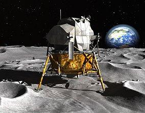 NASA Apollo Lunar Landing Module 3D