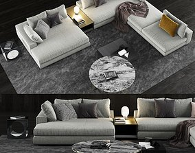 3D coffee Minotti Hamilton Sofa