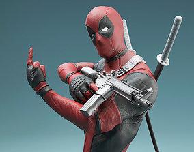 hero Deadpool statue 3D print model