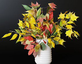 red Autumn bouquet 3D model