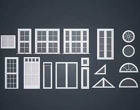 Modular Windows 3D asset