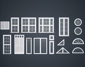 Modular Windows 3D asset