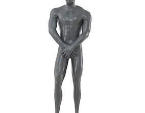 3D model Male abstract mannequin for shop 100