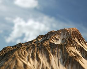 3D Mountain And Texture - high Poly