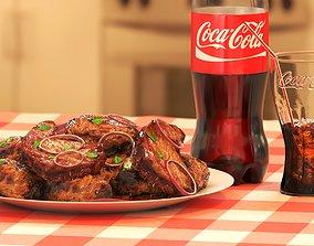 Coca-Cola and Food 3D model