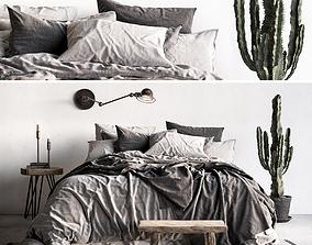 Bed Scandinavian 3D model
