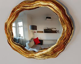 3D model game-ready gold mirror