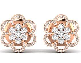 jewel studs Women earrings 3dm stl render detail