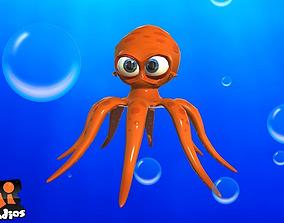Cartoon Octopus 3D asset