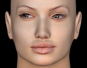 3D Head Model 03 - Angelina Jolie