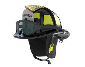 Fireman Helmet Firefighter Uniform 3D model
