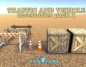 Street props pack Game Ready PBR 3D asset
