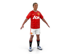 Soccer Player Manchester United with Hair 3D
