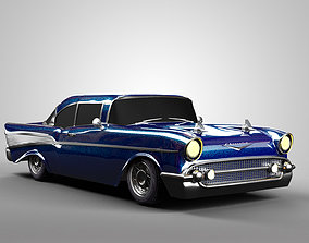 Chevrolet Bel Air 1957 classic 3D model