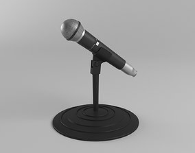 microphone and stand 3D print model