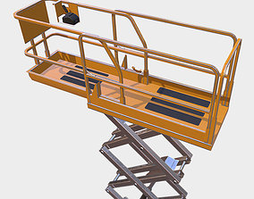 Clean Construction Scissor Lift 3D model