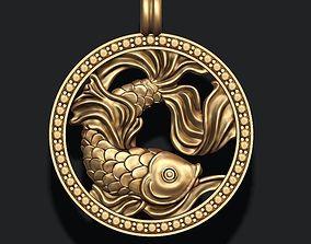 zodiac pisces 3D printable model