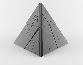 3D asset Sci Fi Pyramid Shape Triangle 1