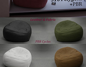 3D model Bean Bag Leather and Fabric stylish