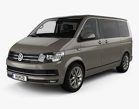 3D model Volkswagen Transporter T6 Multivan with HQ 1